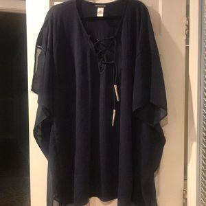 Tommy Bahama cotton Modal Lace up tunic size L/Xl